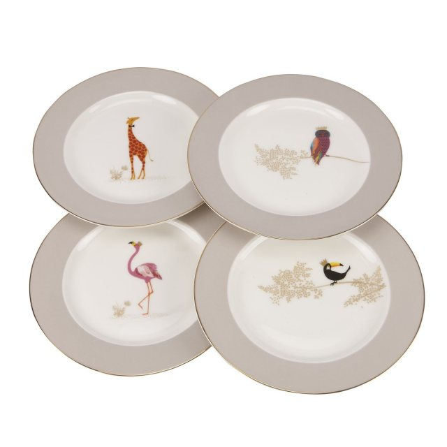 Sara Miller London Sara Miller London for Portmeirion Piccadilly Cake Plates Set of 4