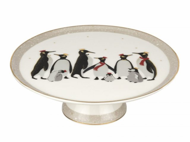 Sara Miller London Sara Miller London Penguin Christmas Collection Footed Cake Plate