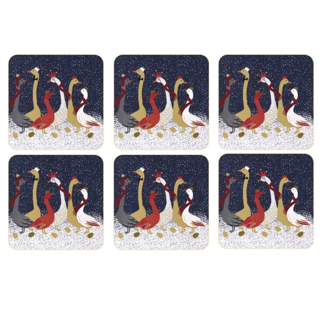 Sara Miller London Sara Miller London Geese Christmas Collection Coasters Set of 6
