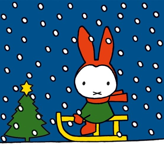 Miffy Sledging Christmas Cards