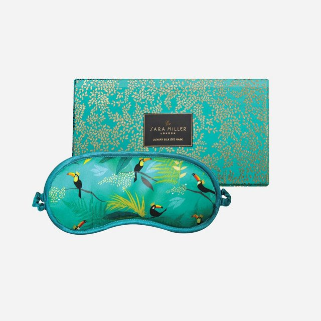 Sara Miller London Sara Miller Silk Eye Mask Toucan