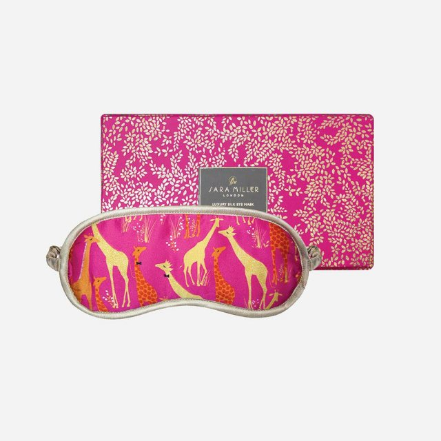 Sara Miller London Sara Miller London Silk Eye Mask Giraffe