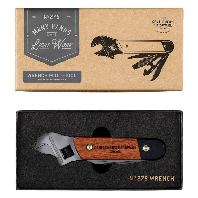 Gentlemen's Hardware Gentleman's Hardware Wrench Multi Tool Wood & Titanium Finish