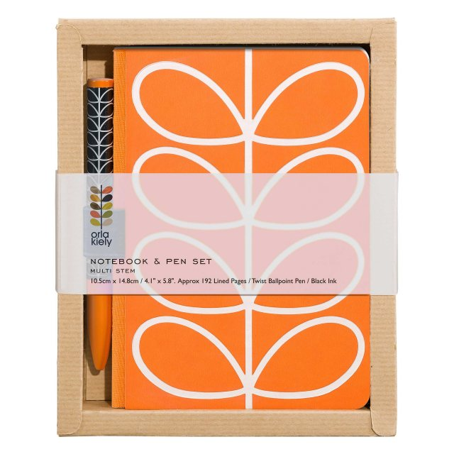 Orla Kiely Orla Kiely Linear Stem Pocket Notebook & Pet Set