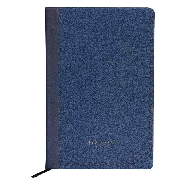Ted Baker Ted Baker Blue Brogue A5 Notebook