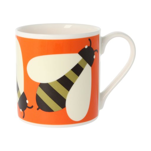 Orla Kiely Orla Kiely Busy Bee Orange Quite Big Mug