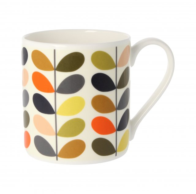 Orla Kiely Orla Kiely New Multi Colour Ten Stem Quite Big Mug