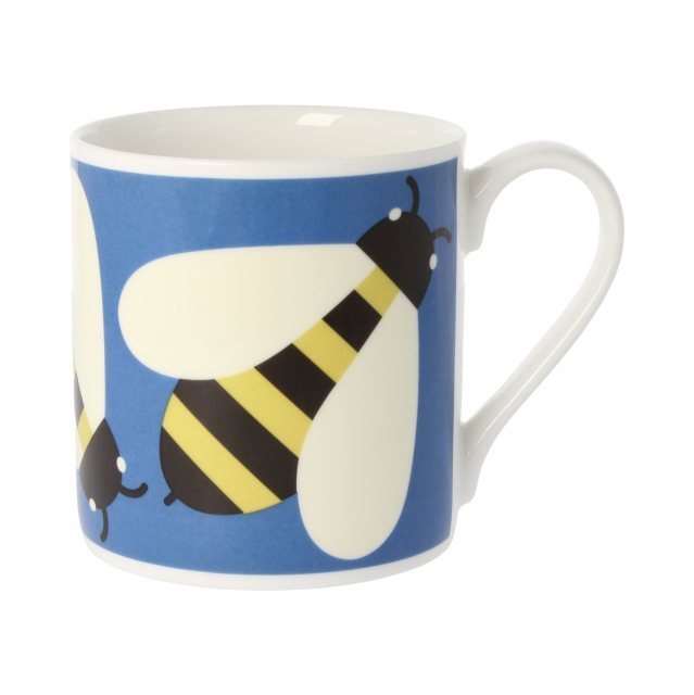Orla Kiely Orla Kiely Busy Bee Blue Quite Big Mug
