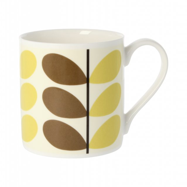 Orla Kiely Orla Kiely Two Colour Stem Nutmeg Quite Big Mug