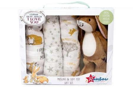 GHMILY Soft Toy With Muslin Gift Set