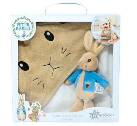 Peter Rabbit Soft Toy & Cuddle Robe Gift Set