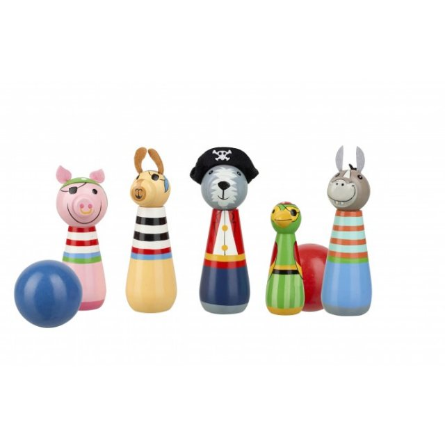 Orange Tree Animal Pirate Wooden Skittles