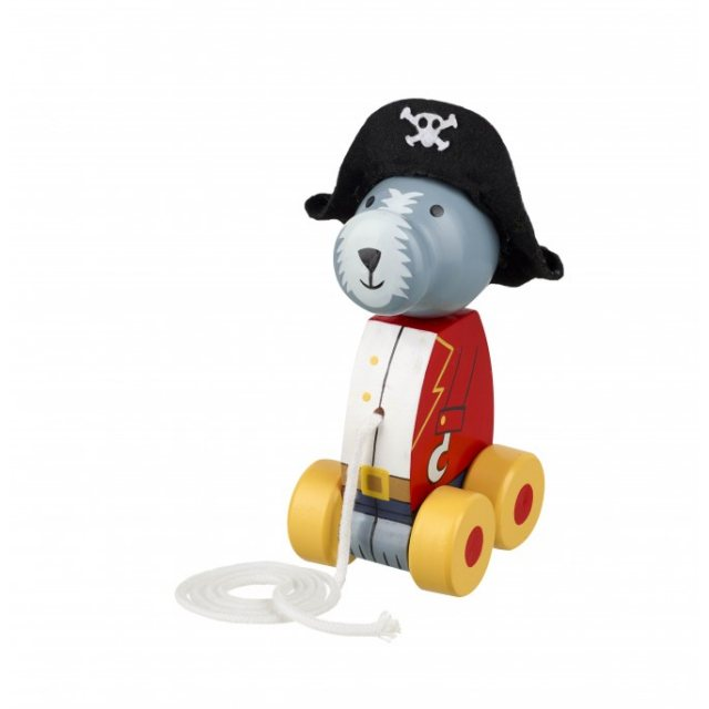 Orange Tree Pirate Dog Wooden Pull Along