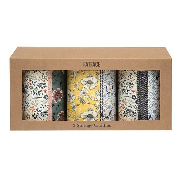 Fat Face Fat Face Set of 3 Round Storage Caddies
