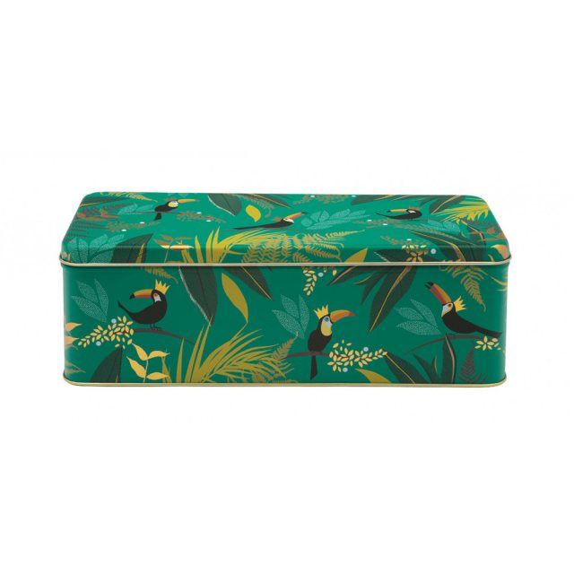 Sara Miller London Sara Miller Toucan Long Deep Rectangular Tin