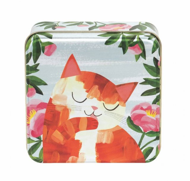 Planet Cat Short Square Tin