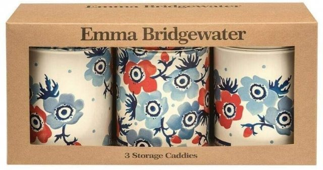 Emma Bridgewater Emma Bridgewater Anemone Set of 3 Round Caddies