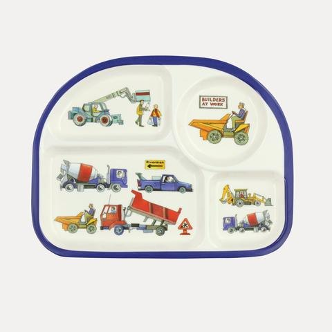 Emma Bridgewater Emma Bridgewater Builders at Work Melamine Childrens Eat Tray
