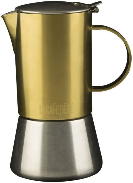 La Cafetiere 4 Cup Brushed Gold Stovetop