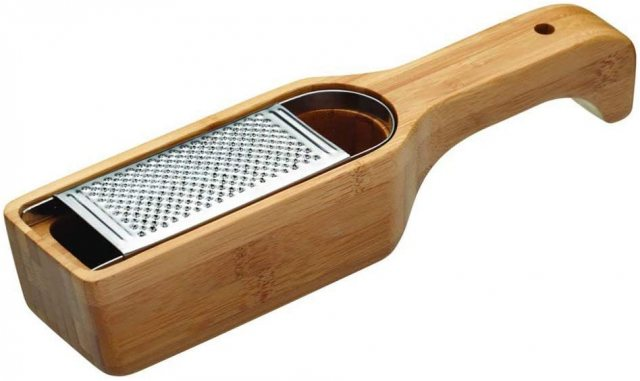 KitchenCraft World of Flavours Italian Bamboo Grater with Holder