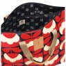 Orla Kiely Orla Kiely Spring Bloom Large Zip Holdall - Ruby